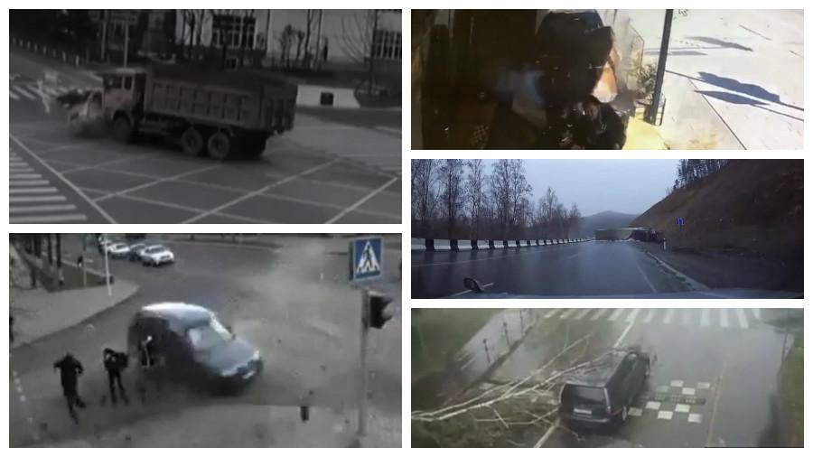 ТОП-7 страшных аварий, которые попали на видео