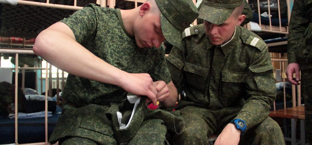 Первый день в армии. В Барановичах идет весенний призыв