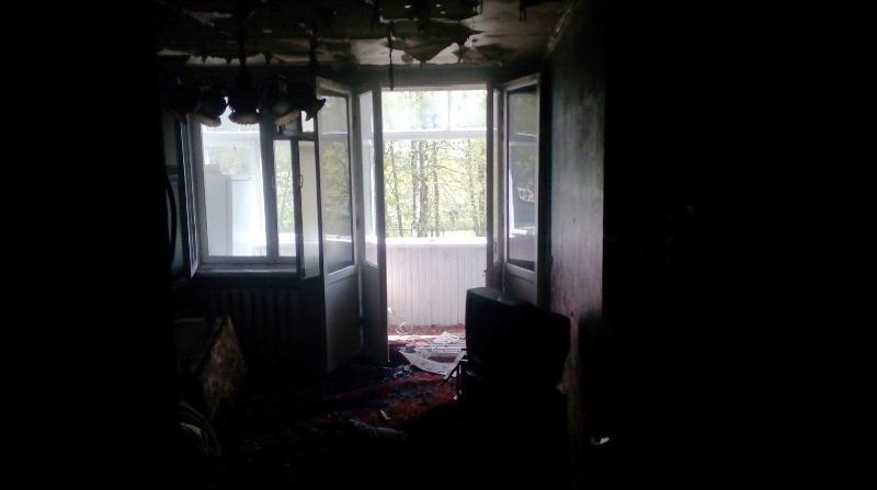 В Барановичах горела квартира на улице Фабричной