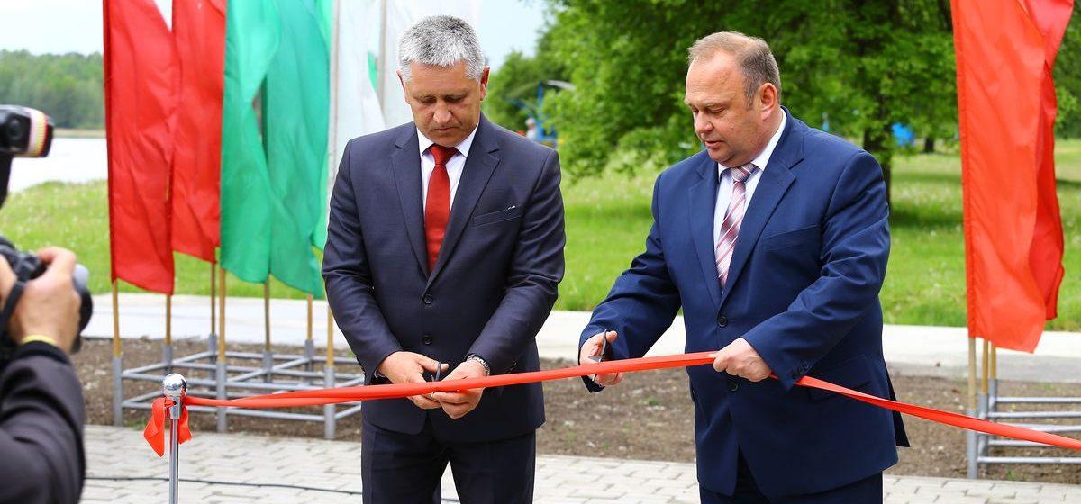 В Барановичах прошло торжественное открытие автостоянки на Мышанке