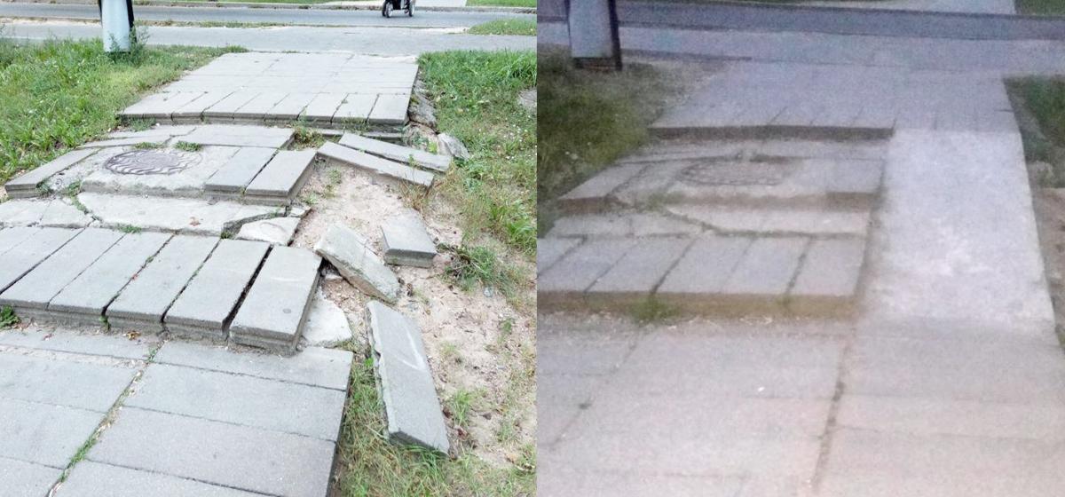 Барановичский активист Черноус собрал подписи горожан и добился ремонта тротуара