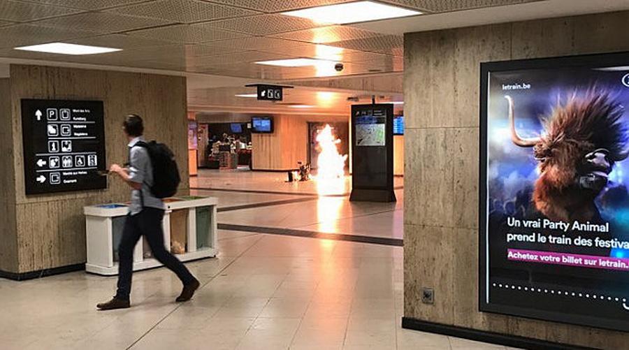 В Брюсселе на Центральном вокзале полиция застрелила мужчину с «поясом смертника»