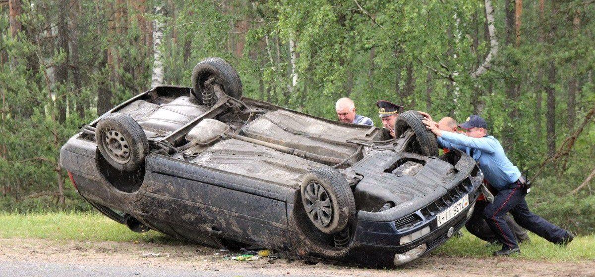 В Ганцевичах водитель попал в аварию и ушел с места ДТП