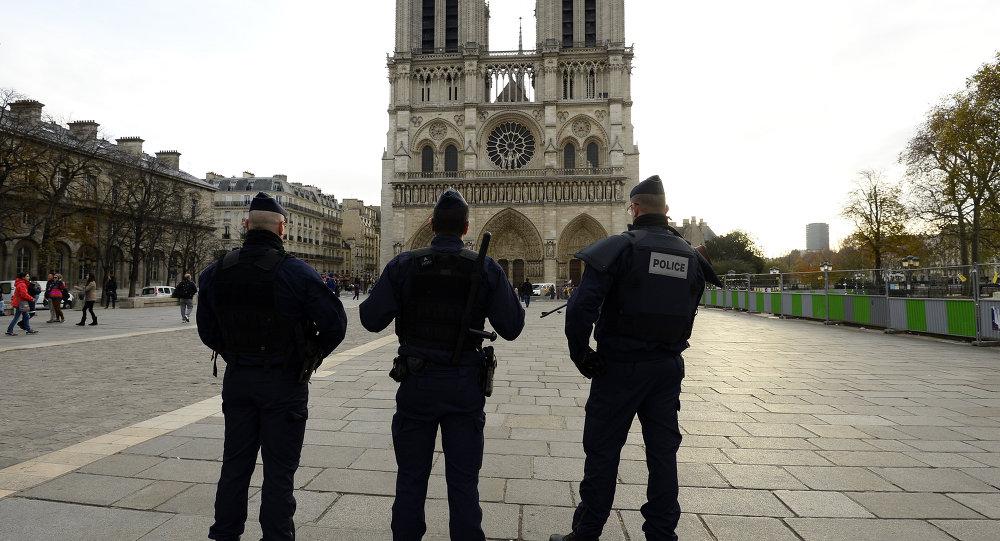 Во Франции преступник с молотком напал на полицейского у собора Парижской Богоматери