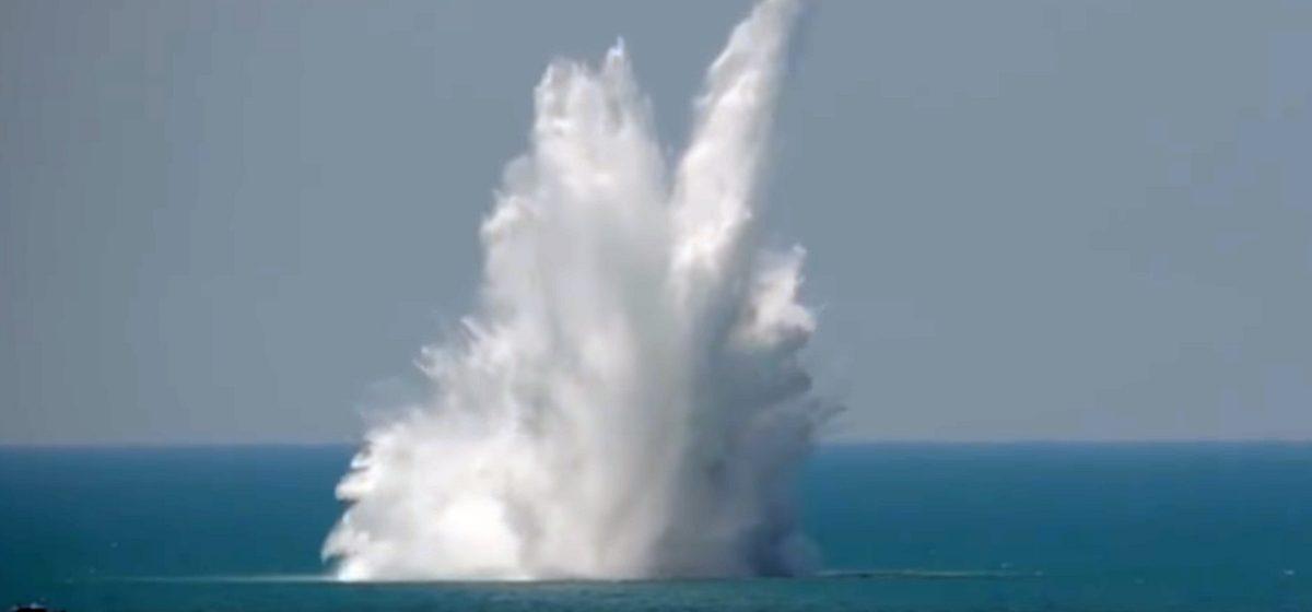 В Крыму взорвали самую крупную из когда-либо найденных морских мин (видео)