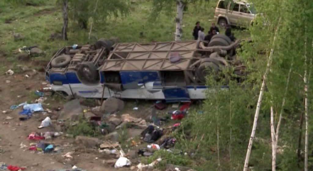 В Забайкалье автобус, перевозивший паломников, попал в ДТП: как минимум 12 погибших