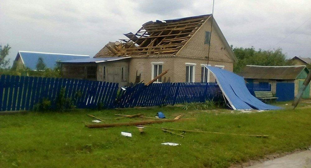 Стихия в Слуцком районе: крупный град, поваленные деревья и опоры ЛЭП