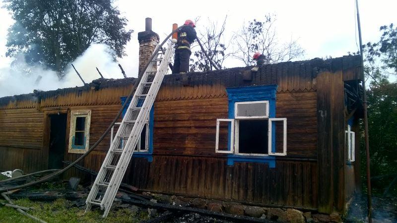 В Меденевичах загорелся дом, пока хозяева были на работе в Барановичах