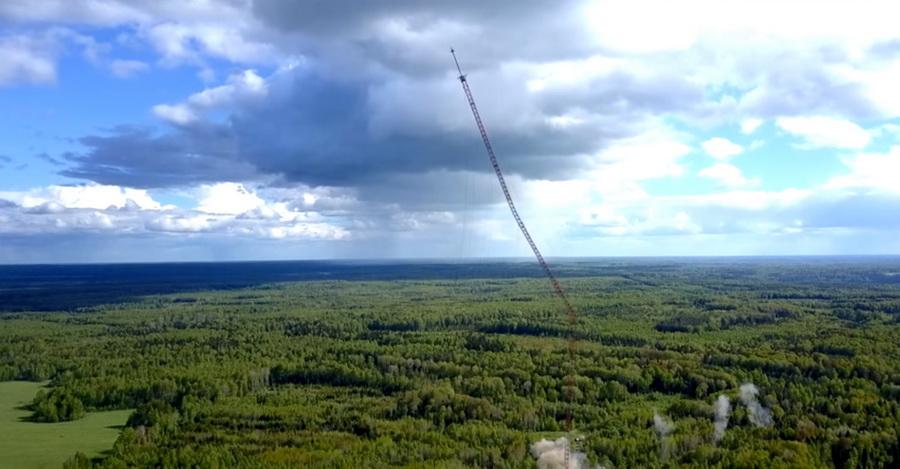 В России взорвали 350-метровую телемачту (видео)