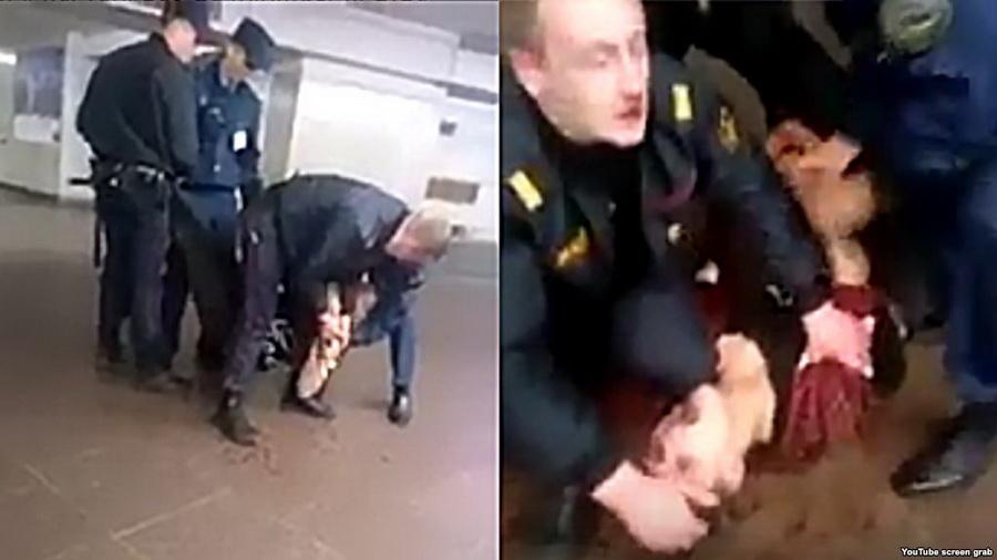 Женщину, которая сняла на видео жесткое задержание в метро, обвиняют в мелком хулиганстве