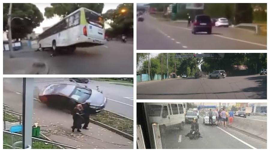 ТОП-7 видео страшных аварий за июнь, от которых стынет кровь