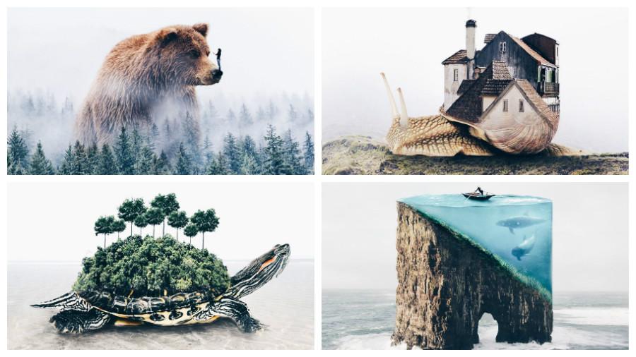 Молодая фотохудожница из Португалии создает красивые изображения, совмещая несовместимое