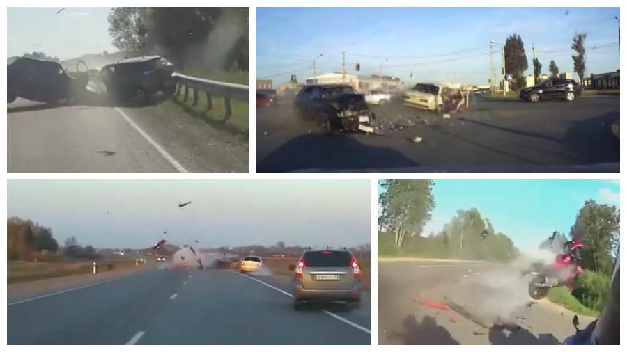 ТОП-5 видео ужасных аварий начала июня