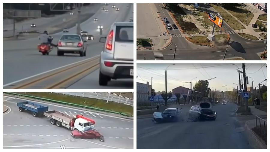 ТОП-7 жестоких аварий за июнь, которые попали на камеру