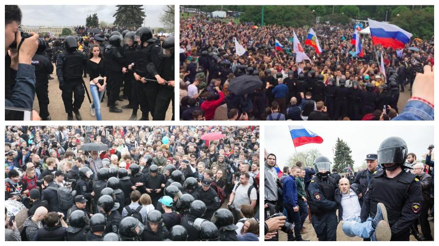Как разгоняли антикоррупционные акции протеста в России 12 июня