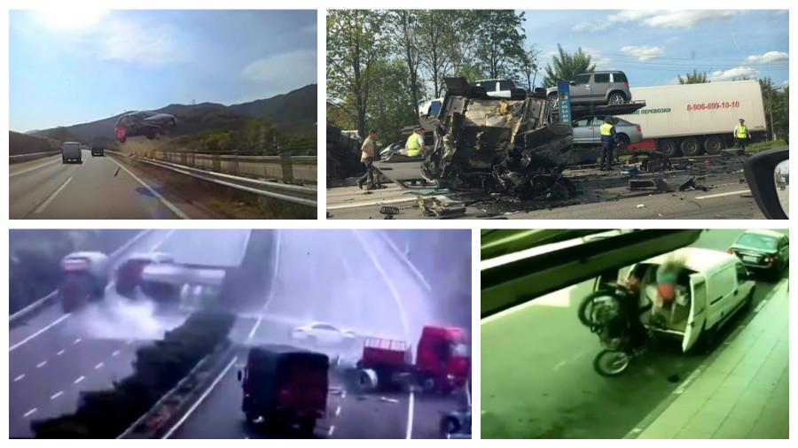 ТОП-7 ужасных аварий за июнь, которые попали на видеокамеру