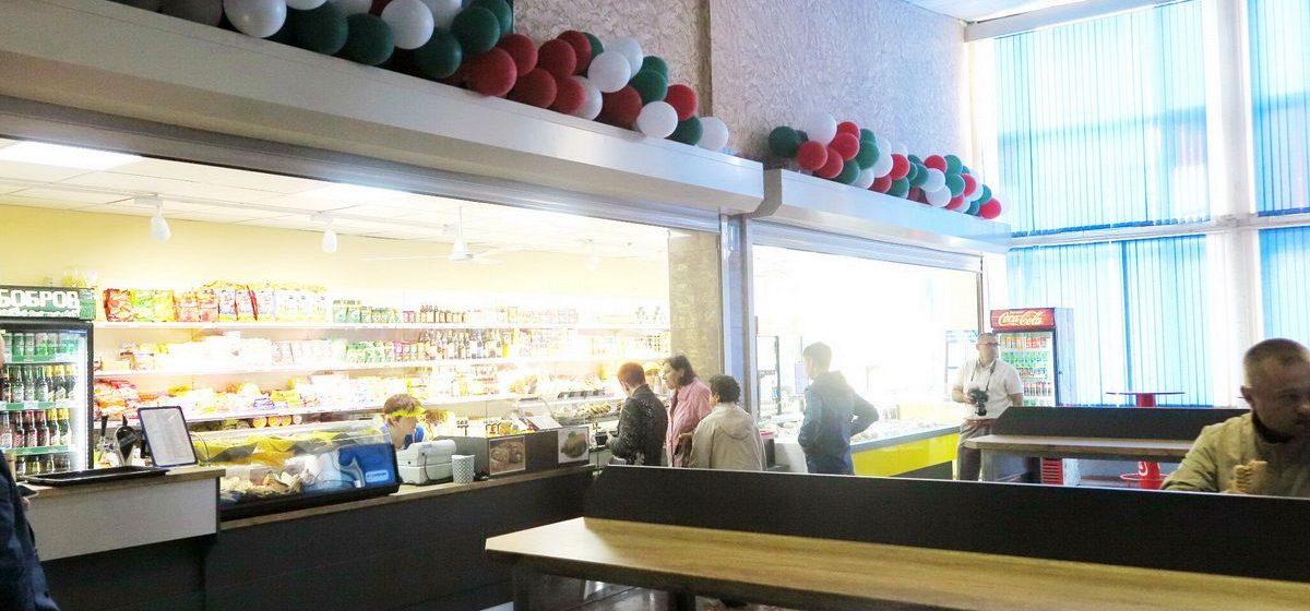 В зале ожидания барановичского автовокзала после ремонта открылся магазин-буфет