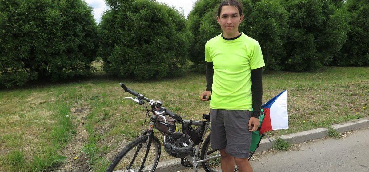 Велосипедист из Чехии посетил проездом Барановичи
