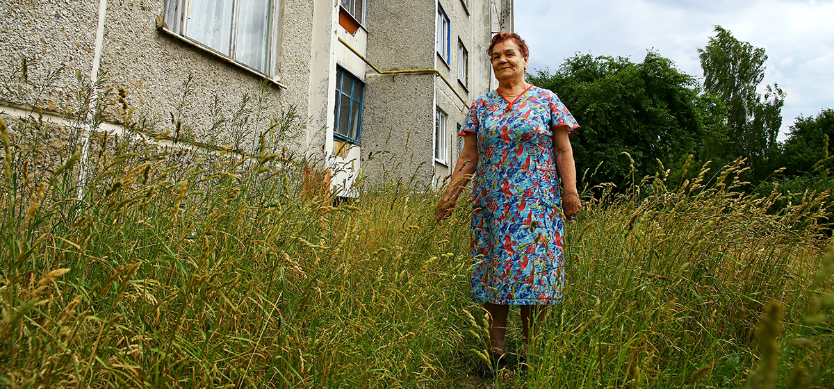 В Барановичах жители домов на улице Пионерской не могут добиться от ЖЭСа, чтобы скосили траву в их дворе