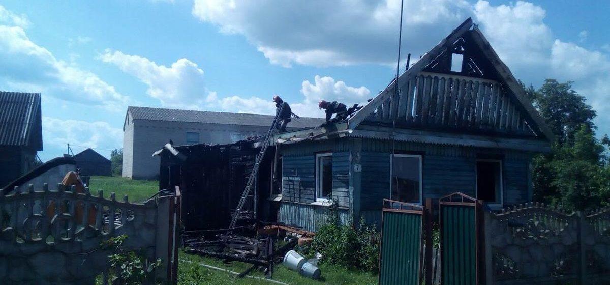 Житель Ляховичского района приехал в гости в соседнюю деревню и спас человека на пожаре