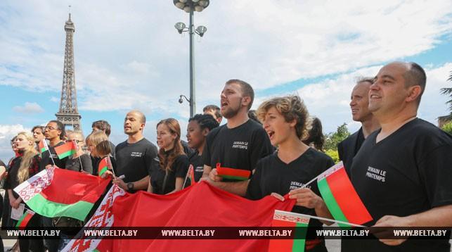 Белорусский гимн исполнили во Франции ко Дню Независимости