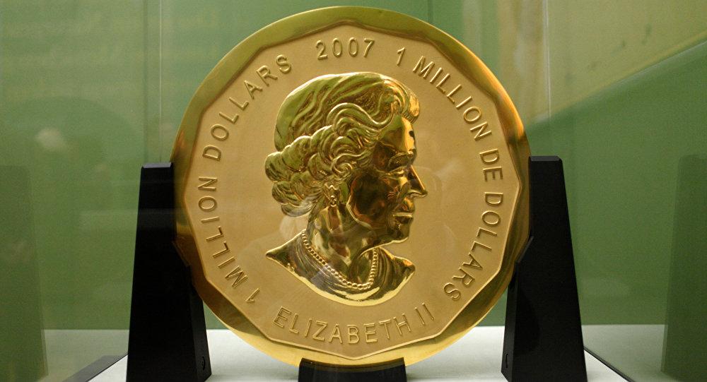 В Германии задержали воров, укравших 100-килограммовую золотую монету