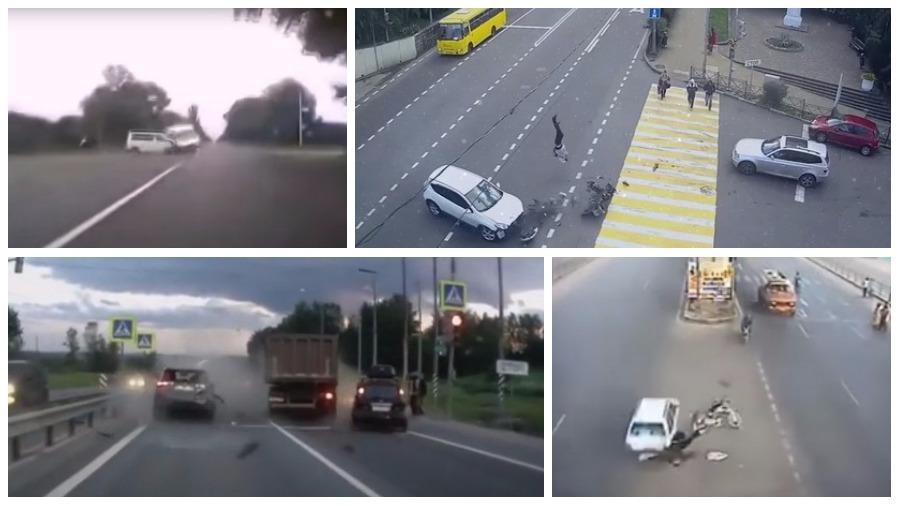 ТОП-5 страшных аварий за неделю, которые попали на камеру