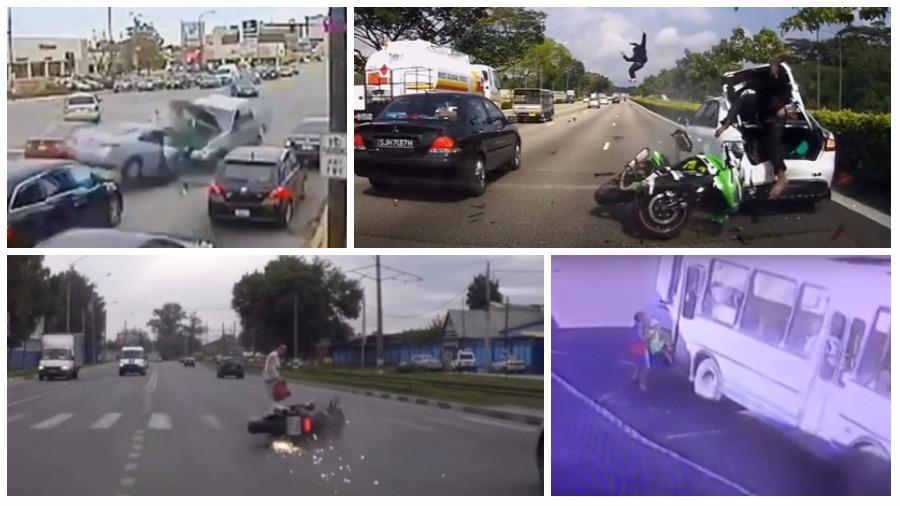 ТОП-7 ужасных ДТП за июль: корова напала на мотоциклиста, байкеры-камикадзе и неуправляемая фура-убийца