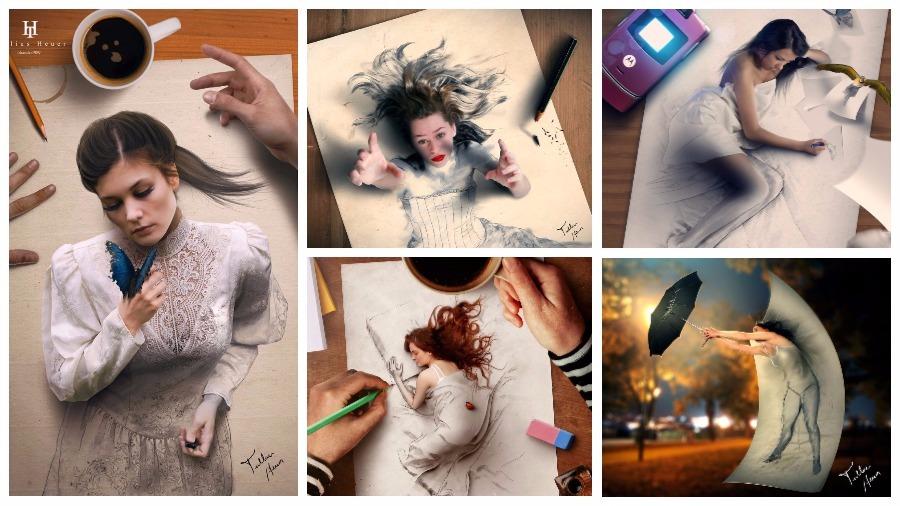 Бразильский художник — самоучка создает гиперреалистичные картины, которые буквально «выпрыгивают» из холста