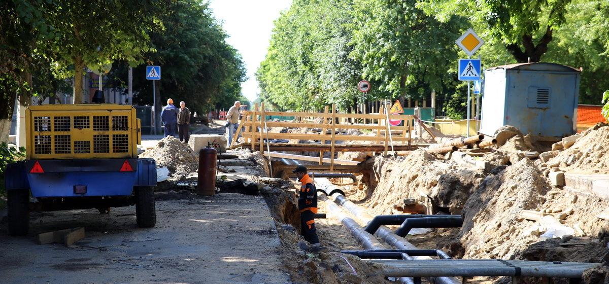 Как идет ремонт улицы Гагарина в Барановичах