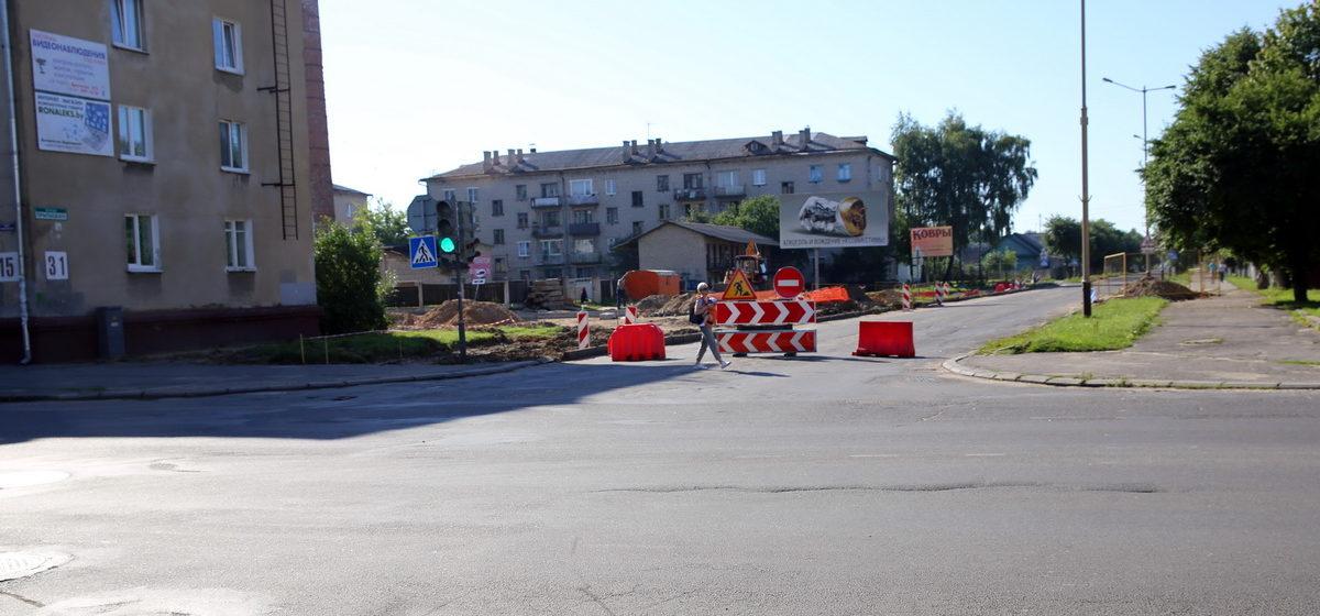 Фотофакт: В Барановичах улицу Притыцкого перекрыли для движения транспорта