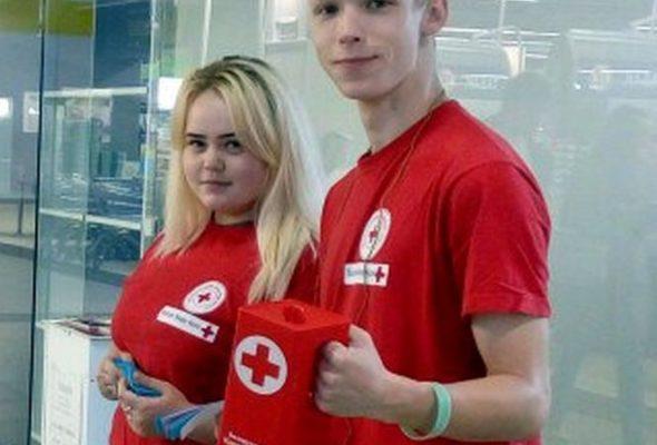 В Барановичах Красный Крест объявил акцию по сбору канцтоваров для детей из малоимущих семей