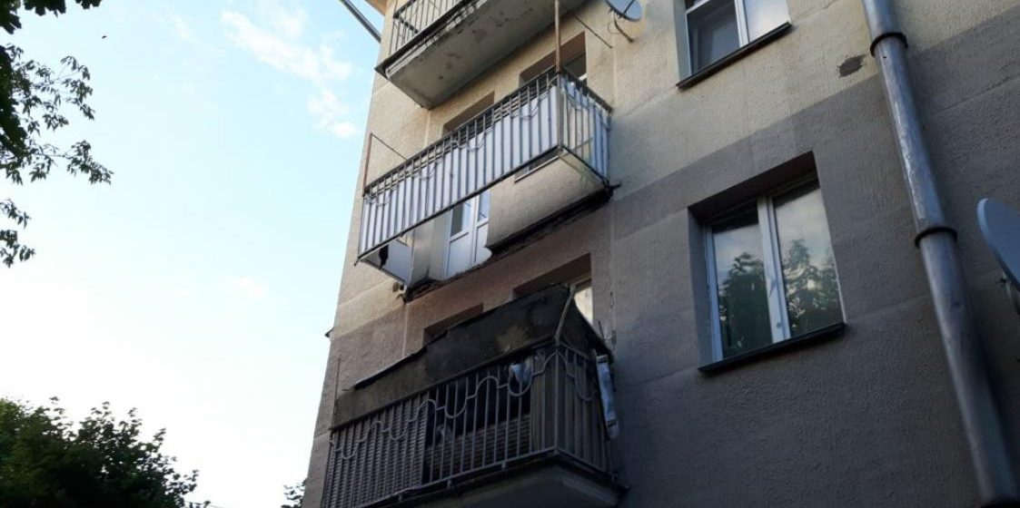 В Минске в жилом доме обвалился балкон