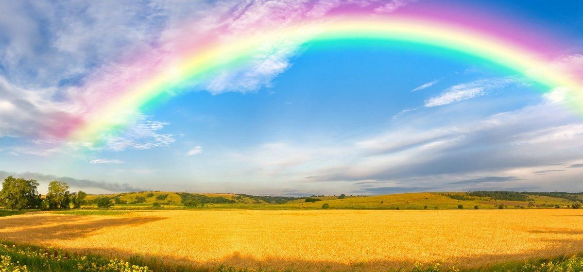 Как выглядит радуга с большой высоты (видео)