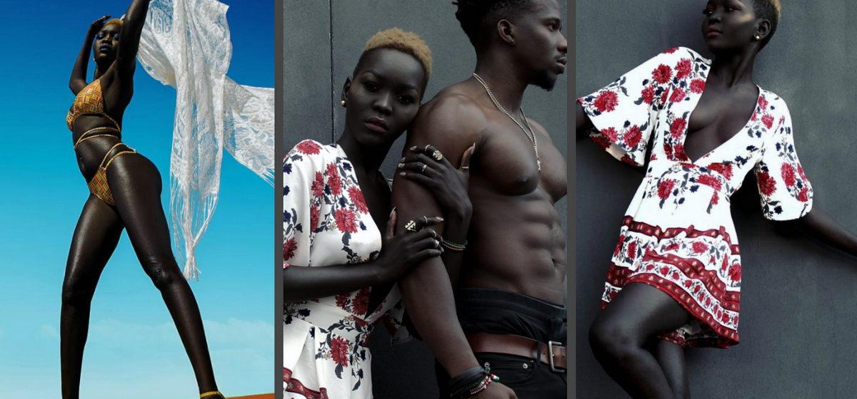 Модель из Судана завоевывает Instagram благодаря нереально темному цвету кожи (фото)