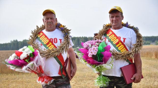 Барановичские комбайнеры первыми в Брестской области намолотили 3000 тонн зерна
