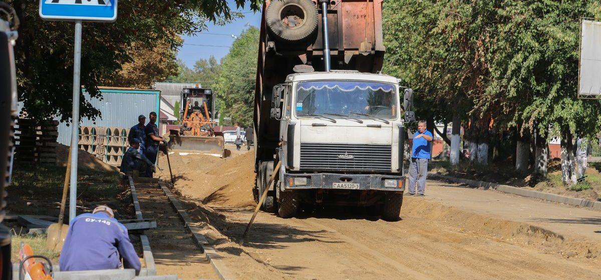 Когда в Барановичах закончат ремонт улиц Притыцкого, Гагарина и Строителей