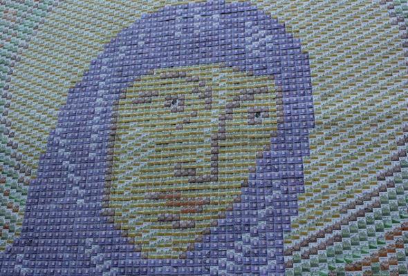 В Полоцке на День письменности установят мозаику из 31 000 почтовых марок