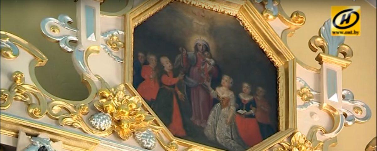 В костеле под Барановичами исследуют уникальную икону начала XVIII века (видео)