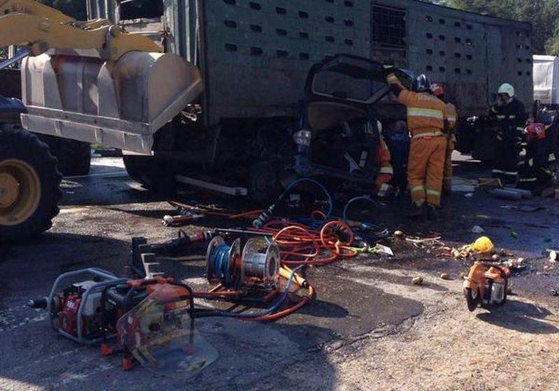 Под Ивацевичами столкнулись Seat и МАЗ, водитель легковушки погиб