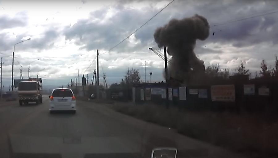 В Чите в пункте приема металлолома взорвалась ракета С-200 (видео)