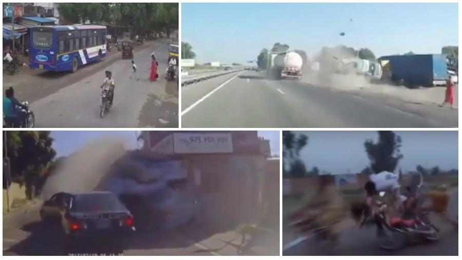 ТОП-5 ужасных ДТП за неделю: бензовоз и маршрутка, смерть велосипедистки, мотоциклисты-смертники