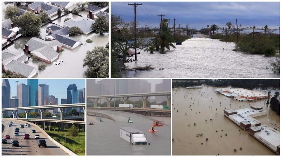 «Хьюстон, у нас проблемы»: ТОП жутких видео урагана «Харви» в Техасе