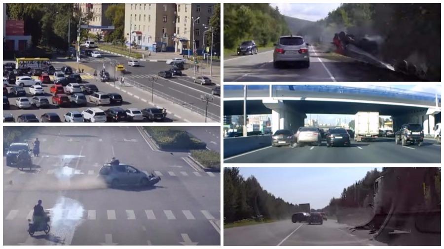 ТОП-7 ужасных ДТП за август: скутер и красный сигнал светофора, велосипедист на пешеходном переходе, страшная смерть пешеходов