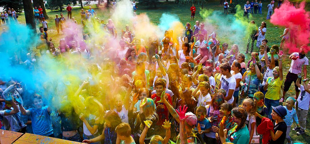 В Барановичах прошел фестиваль красок