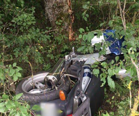 Под Ивацевичами разбился мотоциклист