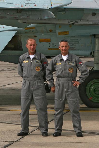 Август 2009 года, город Радом (Польша). Александр Марфицкий и Александр Журавлевич.