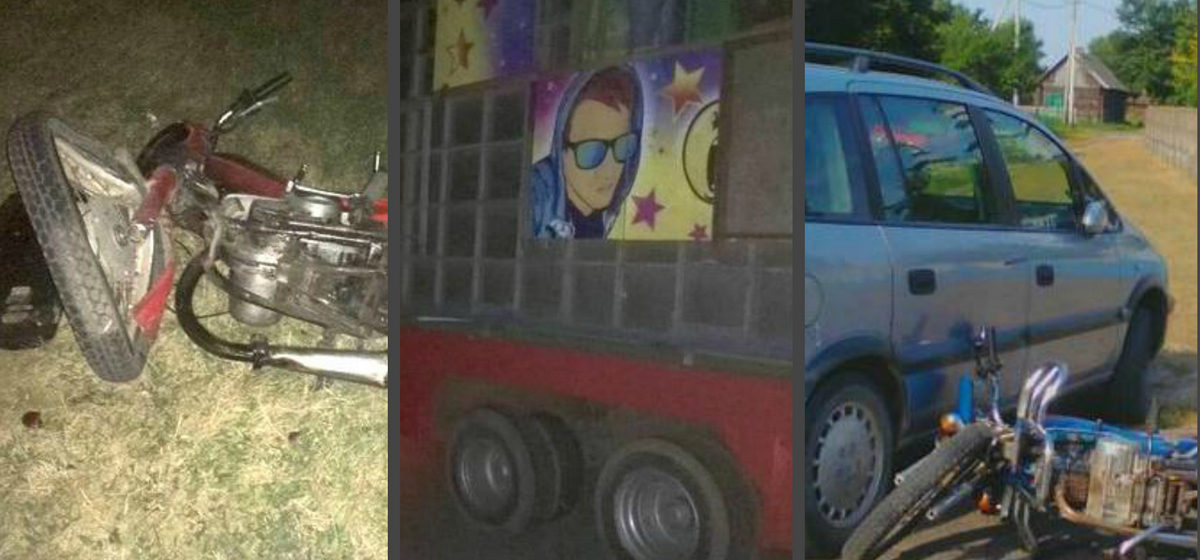 Три ДТП с участием байкеров произошло накануне на дорогах Брестчины