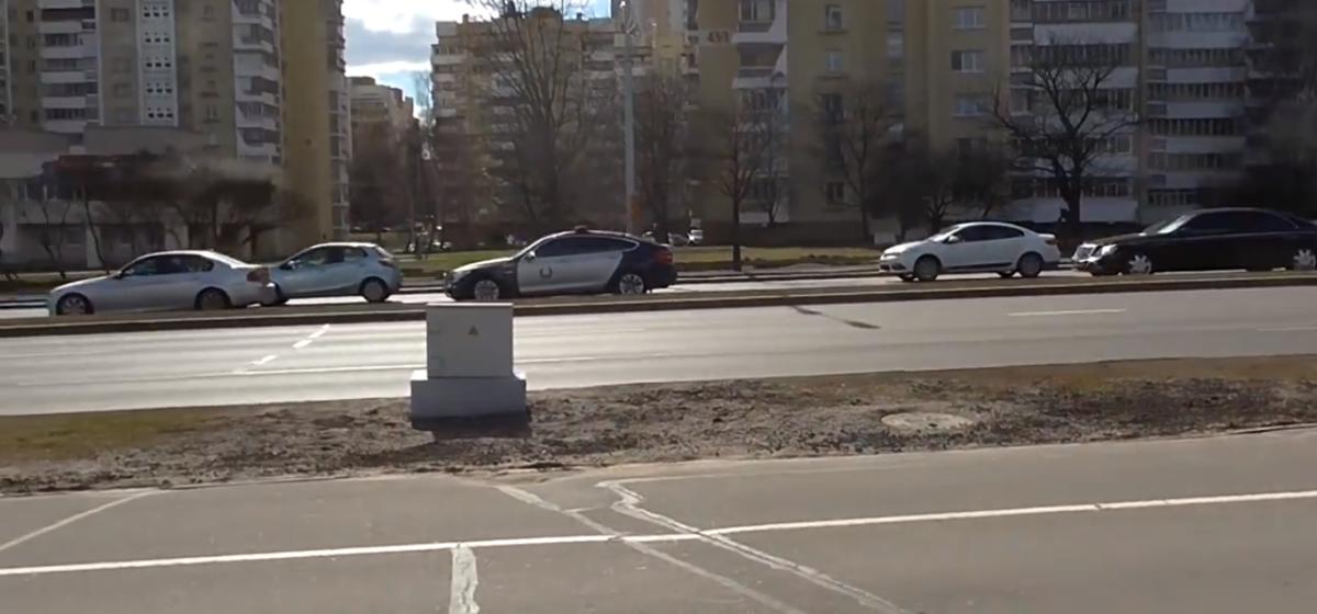 В Минске BMW не уступил дорогу кортежу Лукашенко (видео)