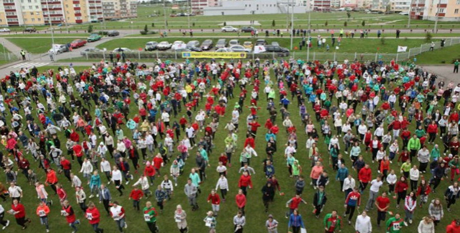 В Витебске более тысячи человек приняли участие в попытке установить рекорд Гиннесса (видео)